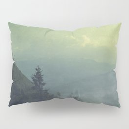 Mist over valley - view of Valmalenco / Italy Pillow Sham