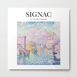 Signac - La Tour Rose, Marseille Metal Print