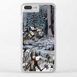 The Snow-Bound Village Clear iPhone Case