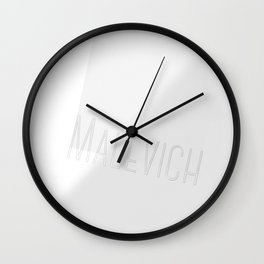 Malevich White on white Wall Clock