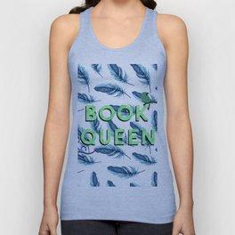 Book Queen Unisex Tank Top