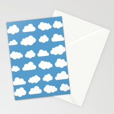 White clouds on a blue skies Stationery Cards