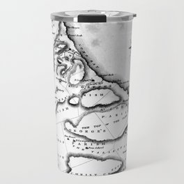 Vintage Map of Barbados (1823) BW Travel Mug