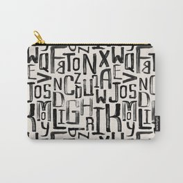 Urban & Artistic Mixture Of Latin Letters Carry-All Pouch