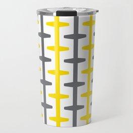 Geometric Pattern 209 (yellow gray) Travel Mug