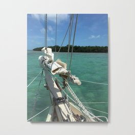 Key West sailing over reef Metal Print