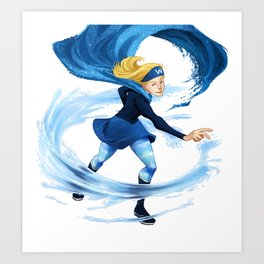 Water Girl Art Print