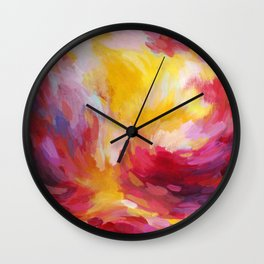Sunset in Pink Wall Clock