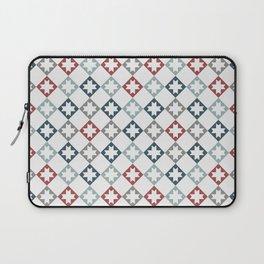 Modern Farmhouse Quilt Pattern Vintage Inspired NorthStar and Diamond Harlequin Print Laptop Sleeve