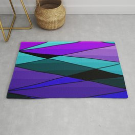 Abstract, geometric pattern, pink , turquoise , blue Rug