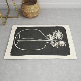 Abstract line art vase  Rug