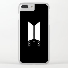 BTS LOGO Clear iPhone Case