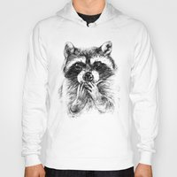 rocket raccoon Hoodies featuring Surprised raccoon by Anna Shell