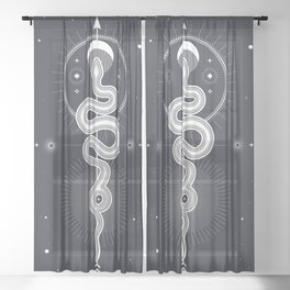 The Moon Snake Sheer Curtain