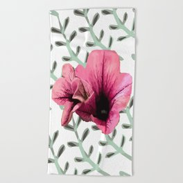 Uno Flower Beach Towel