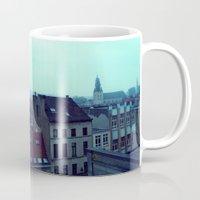 brussels Mugs featuring Brussels by Liselotte Verhagen
