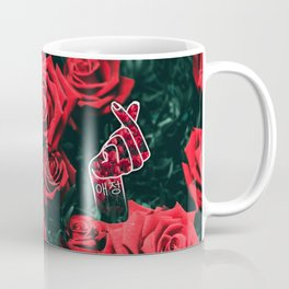 Love Finger Snap Roses Coffee Mug