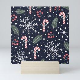 Holiday Seamless Pattern Mini Art Print