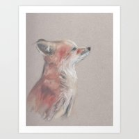 kit king Art Prints featuring Little Kit by Jamie Homeister