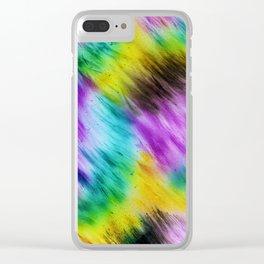 Rainbow furs Clear iPhone Case
