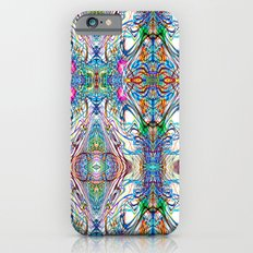 Neon Pinstripes 2 C iPhone 6s Slim Case