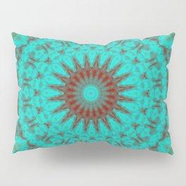 Mandala Fractal in Oxidized Copper 2 Pillow Sham