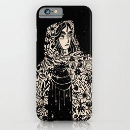 Floral Cloak - Dark | Alex Gold Studios iPhone Case