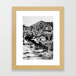 Jerome Ghost Town Framed Art Print