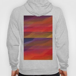 Seascape in Shades of Red and Purple Hoody