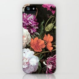 Vintage Flowers and Bugs iPhone Case