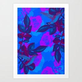 pink n blue Art Print
