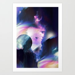 Galaxy Tripping Art Print