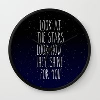 coldplay Wall Clocks featuring Look How They Shine For You by Adel