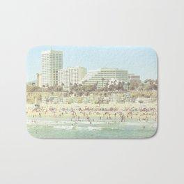 Sunny day on the beach Santa Monica California Bath Mat