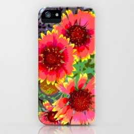 Gerber daisies - pop art nature photography print iPhone Case