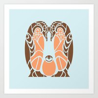 penguins Art Prints featuring Penguins by Hinterlund