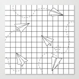 Paper Planes Grid Canvas Print