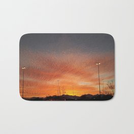Sunburst sunset in West Valley Utah Bath Mat