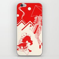 kenzo iPhone & iPod Skins featuring Planet KENZO by Nat Janin