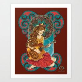 Acoustic Girl Art Print