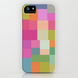 Mid-Century Modern Colorful Geometric 2 iPhone Case