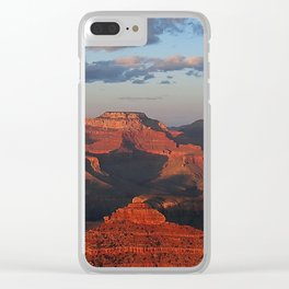 Grand Canyon Sunset Colors Clear iPhone Case