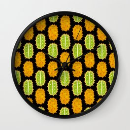 strange fruits (kiwano) Wall Clock