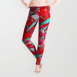 Groovy Red & Pink Leggings