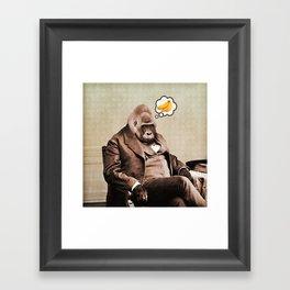 Gorilla My Dreams Framed Art Print