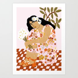 Bohemian Lady Art Print