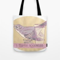 literary Tote Bags featuring Literary drinks: Tequila Mockingbird by Ruben Alexander