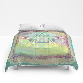 Rainbow Ghosted Pentacle Comforters
