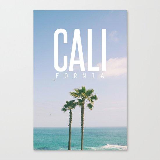 CALI FORNIA Canvas Print