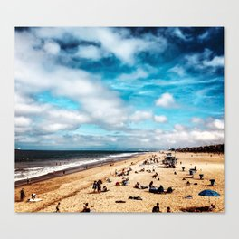 Manhattan Beach Summer Canvas Print